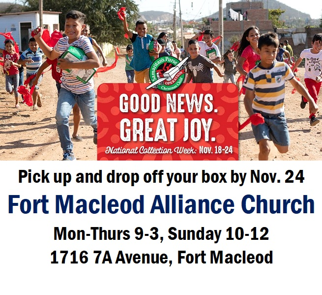 Operation Christmas Child 2019 Dates.Operation Christmas Child Town Of Fort Macleod