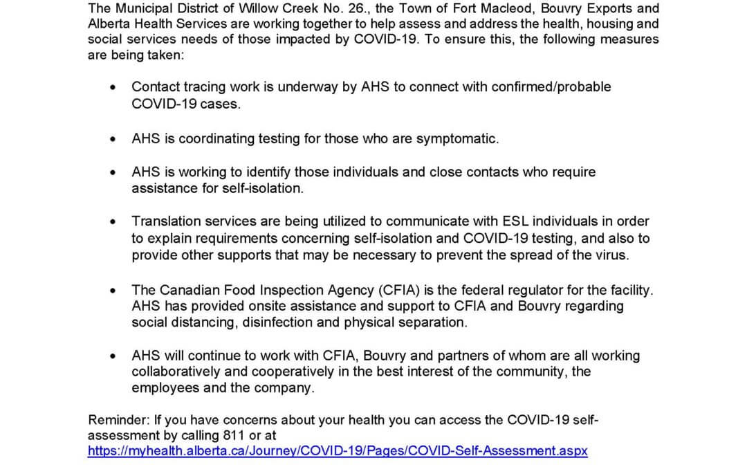 COVID-19 Information Update May 4, 2020