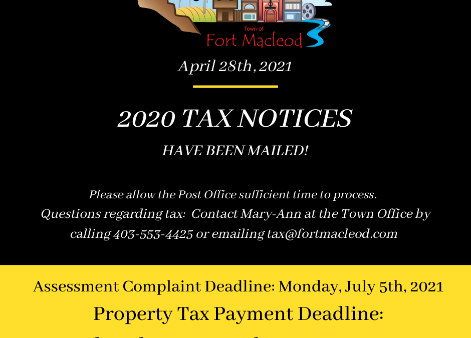 2020 Property Tax Notices Have Been Mailed!