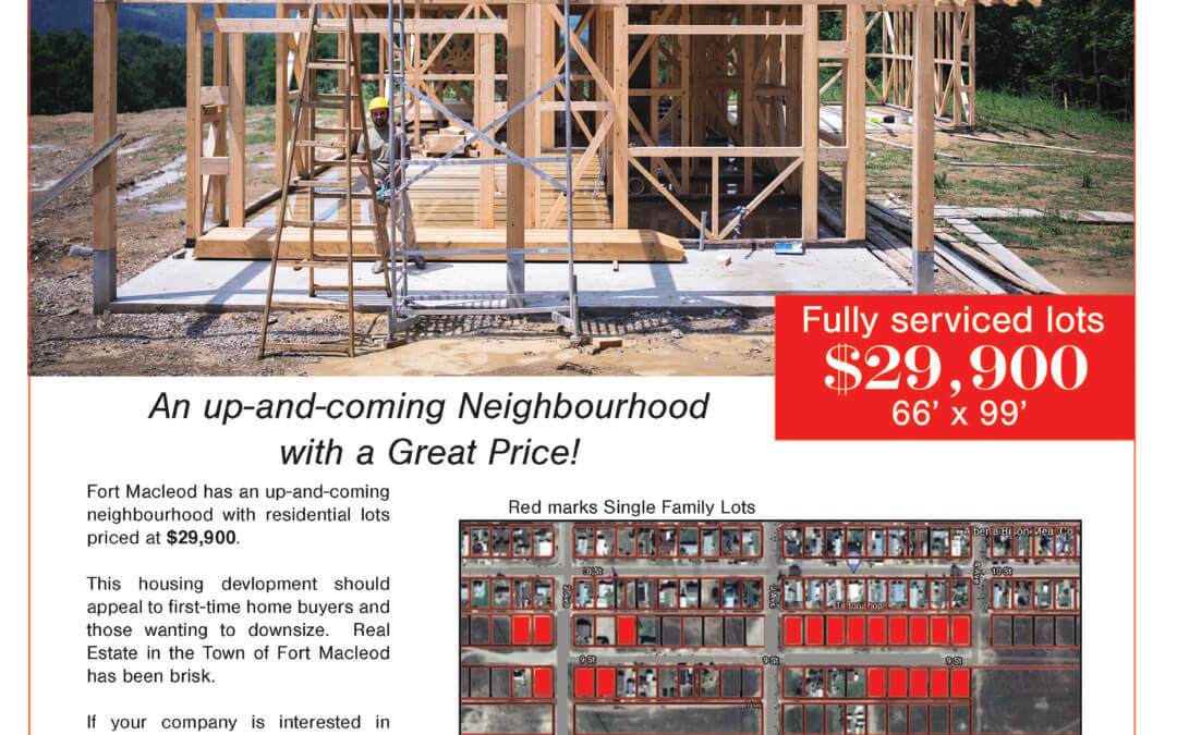 LAND SALES: 9th Street Residential Lots $29,900